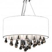 vidaXL Lampă de tavan cu 85 cristale albe