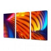 Tablou Canvas Premium Abstract Multicolor Rosu Cu Albastru Decoratiuni Moderne pentru Casa 3 x 70 x 100 cm