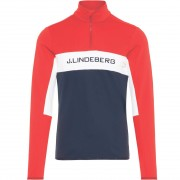 J.Lindeberg Men First Layer KIMBALL STRIPED racing red