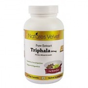 Triphala 500mg Pure Extract 60 Veg Capsules By Natures Velvet