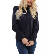 VERO MODA Long Cuff Shirt Navy