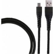 Cablu de incarcare/transfer date USB la USB-C / Type-C lungime 1M ranforsat Negru SHO1384
