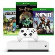 Конзола Microsoft Xbox One S 1TB + Minecraft + Sea of Thieves + Fortnite, All Digital