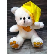 Grabadeal White 16 Inch Christmas Teddy Bear with Yellow Cap