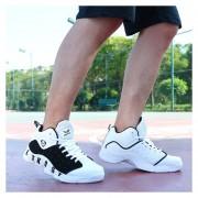 Zapatos De Baloncesto Para Hombre TENIS ZAPATILLAS Calzado Deportivo -Blanco Y Azul
