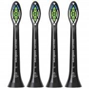 Philips Toothbrush Heads Sonicare W2 spazzolino da denti sonico Standard bianco ottimale teste nero x 4 HX6064/13
