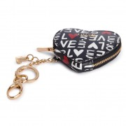 Калъф за ключове LIU JO - Key Ring Heart N19088 E0010 Bianco/Nero 00054