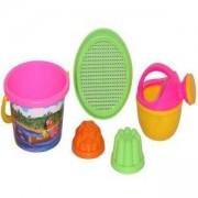 Детски комплект с кофичка и формички за пясък, 3 цвята, Polesie, 411068
