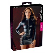 Cottelli - glossy long-sleeved female top (black)