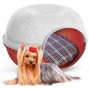 Casa Pet Cave Gato Perro Mascotas Plast Pet Chica Roja