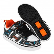 Heelys X2 Bolt Plus Black/White/Orange/Cyan