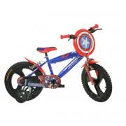 Bicicleta pentru copii Capitan America, 16 inch, maxim 60 kg, 5-7 ani