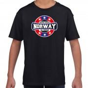 Bellatio Decorations Have fear Norway is here / Noorwegen supporter t-shirt zwart voor kids