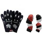 Summer Combo Black Knighthood Glove+ Buff Headwear