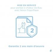 Daikin Mise en service pour pompe à chaleur Air/Eau Daikin France avec liaison frigorifique - Garantie 2 ans main d'oeuvre