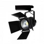Sínes LED lámpa , track light , stúdió , 3 fázisú , 4 pólusú , 33 Watt , 24-60° , SAMSUNG CHIP , hideg fehér , CRI>90 , 5 év garancia , fekete