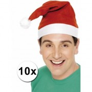 Geen Voordelige kerstmutsen 10 stuks