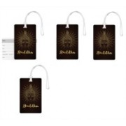 100yellow Luggage Tags- Lord Buddha Face Print High Quality PVC Tag with Silicon Strap- Ideal For Travel-Pack Of 4 Luggage Tag(Multicolor)