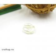 Mărgele ovale perlate (100g)