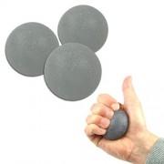 Homecraft Balle d'exercice pour la main - Noir - Lot de 3