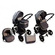 BBO Kolica za bebe MATRIX 3U1 siva (SI0008)