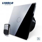 Intrerupator LIVOLO simplu wireless cu touch si telecomanda inclusa, negru