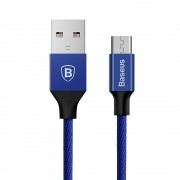 Cablu USB la MicroUSB Baseus Yiven Navy Blue (1m, output 2A, impletitura textila)