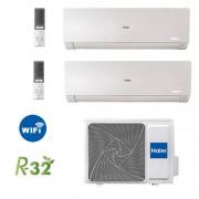 HAIER Climatizzatore Haier Flexis-Mw Bianco 9000 Btu + 12000 Btu / 2u50s2sf1fa Gas R32 Wi-Fi Incluso