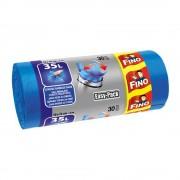 Saci menajeri cu manere FINO, Easy-Pack 35 L, 30 buc/rola