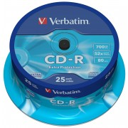 CD-R, 700MB, 52X, 25 buc/spindle, VERBATIM Extra Protection