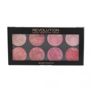 Makeup Revolution London Blush Palette 12,8 g paletka 8 líceniek pre ženy Blush Queen