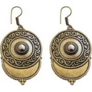 Karatique Ethnic Fancy Artificial Oxodized Earrings for Women Copper Gold Plated Dangle Earrings Jewellery for Women and Girls Brass Chandelier Earring