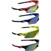 Zyaden Round Sunglasses(Yellow, Blue, Yellow, Green)