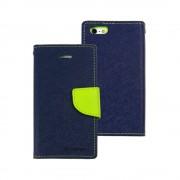 Mercury Goospery Fancy Diary Wallet Case for iPhone 5/5S/SE - Navy Blue