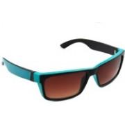 Scott Rectangular Sunglasses(Brown)