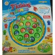 Shribossji Fishing Games For Kids With 4 Fishing Rods And 15 Fishes Battery Operated Toy (Multicolor)