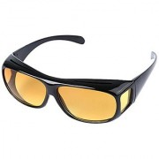 HD Wrap Night Vision Real Club Night Vision Glasses In Best Price Yellow Color Glasses Night Driving Glasses Pack of 1 (AS PER SEEN ON TV)