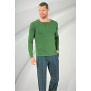 """Мъжка пижама """"Green"""" - Памук и ликра"""