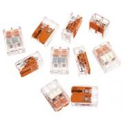 Cleme legaturi rapide cabluri Wago 2x max. 4 mm², 10 bucati