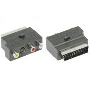 Valueline VLVP31902B EuroScart - 3xRCA+S-Video adapter ki- és bemenet átkapcsolóval
