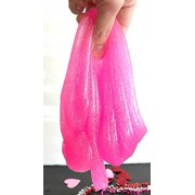 Juliana Pink Slime Supplies Make Your Own Clear Crystal Slime Foam Slime Glitter Slime, Slime Making Kit for Girls Boys Kids