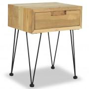vidaXL Нощно шкафче, 40х30х50 см, шишамово дърво масив