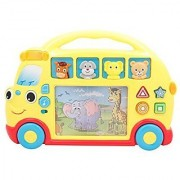 TECHEGE Toys Exciting Learn'n'Play Rolling Safari Bus Adventure with Awesome Lights Fun Sounds and a Great Learning Experience!