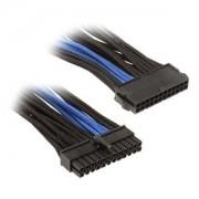 Cablu prelungitor Silverstone 24 pini ATX, 30cm, Black/Blue, PP07-MBBA