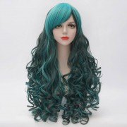 rosegal Stunning Long Side Bang Fluffy Curly Heat Resistant Synthetic Highlight Capless Women's Cosplay Wig