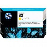 HP 80 Original Ink Cartridge C4848A Yellow