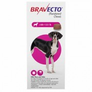 Bravecto for Extra Large Dogs 88 to 123lbs (Pink) 1 Chew