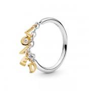 PANDORA Loved Script ring, Ring, Zirkonia, 167799CZ-58