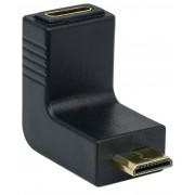 Adattatore HDMI Mini C Femmina a Mini C Maschio Angolato Nero
