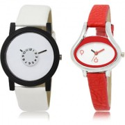 The Shopoholic White Combo Stylist Designer Combo Pack 2 White Dial Analog Watch For Boys And Girls Stylish Watches For Men